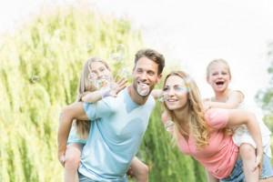 Familie im Sommer